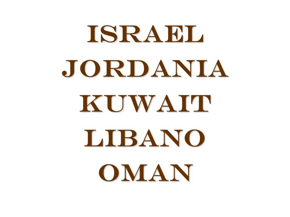 IsraelJordaniaKuwaitLibanoOman