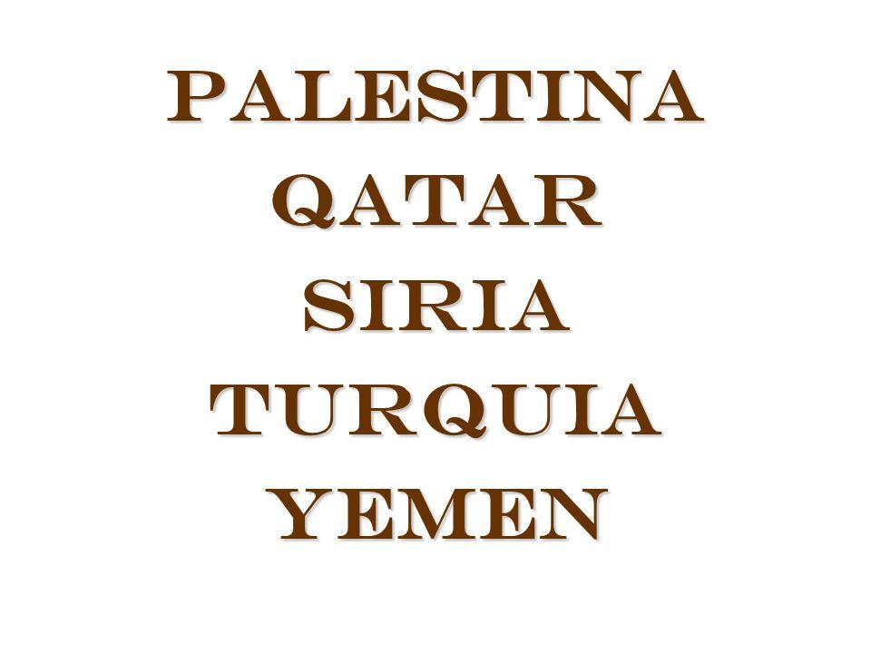 PalestinaQatarSiriaTurquiaYemen