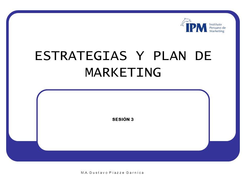 G u s t a v o P i a z z e G a r n i c a M.B.A E s t r a t e g i a s y P l a n d e M K T 12 Organización del presupuesto del Plan de Marketing Presupuesto de Inversión: ¿Qué necesitamos para comenzar.