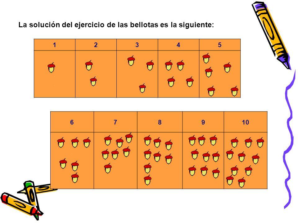 7. en este juego lo que tenéis que hacer es arrastrar las bellotas dentro de las casillas pero debe haber el mismo número de bellotas que indica cada