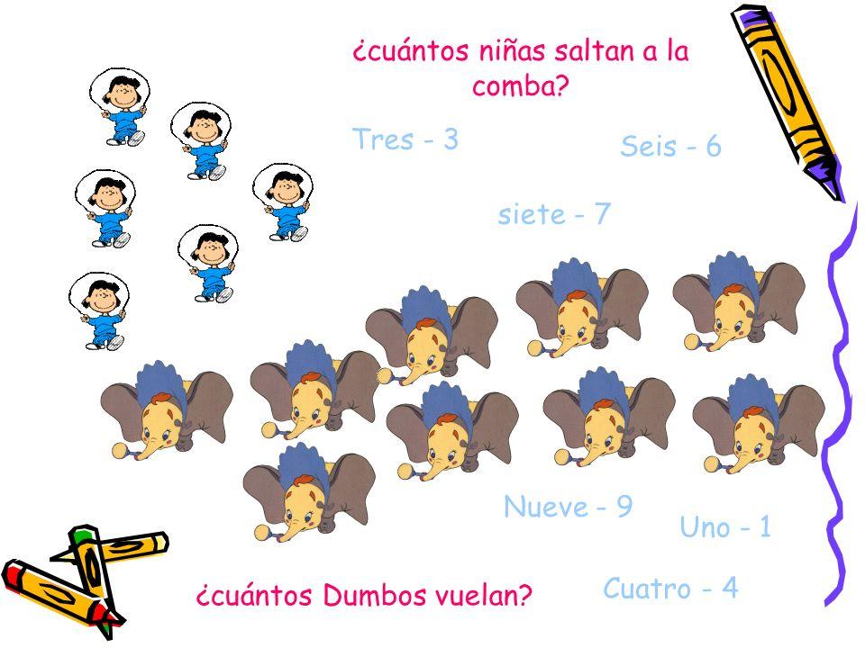 ¿Sabéis ya los números chicos ¿cuántos niños aparecen en el dibujo? Dos - 2 Ocho - 8 Cinco - 5 ¿cuántas niñas hay? Tres - 3 Uno - 1 Seis - 6 1. Debajo