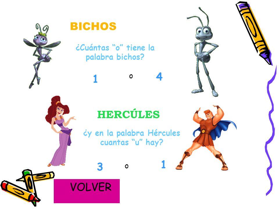 3. Para terminar con las vocales, a continuación vais a ver por escrito el nombre de algunos de nuestros personajes animados favoritos, y vosotros ten
