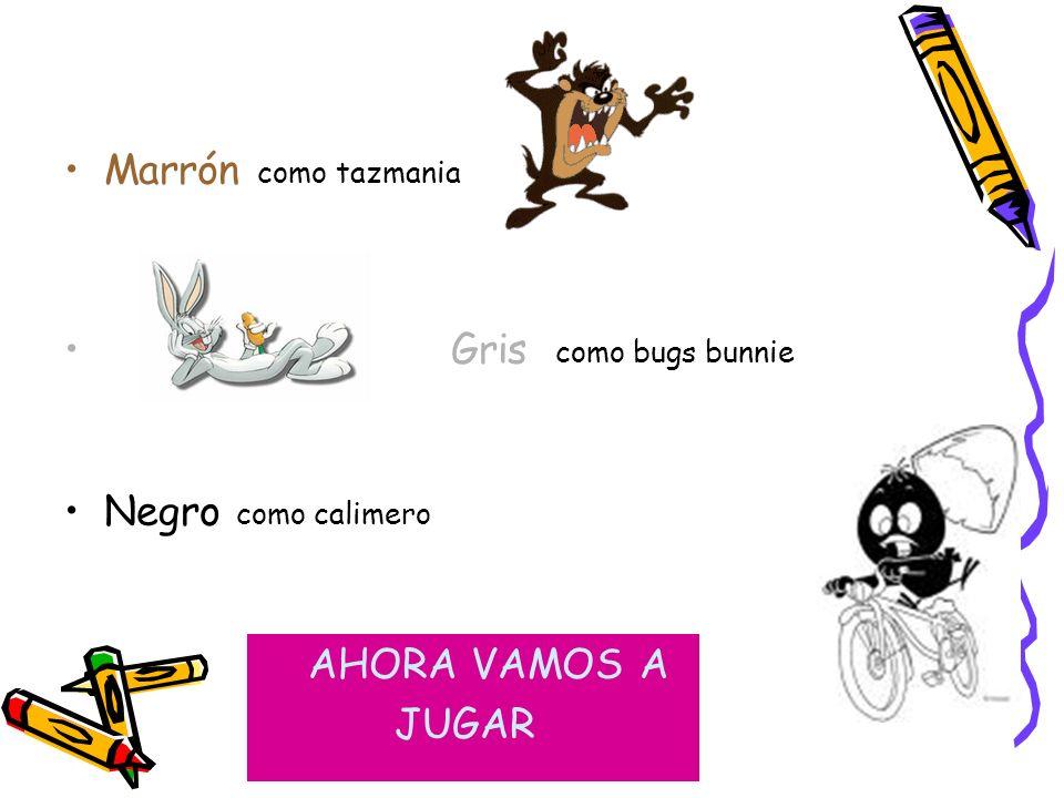 Blanco como Snoopy Naranja como Garfield Amarillo como Piolín