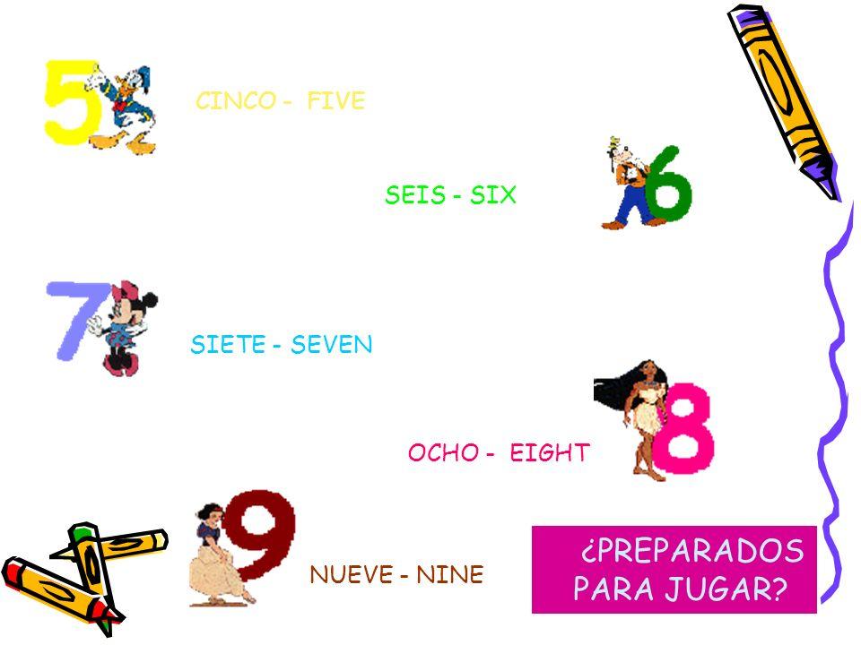 ¡ LOS NÚMEROSSS ! Os vamos a enseñar a continuación los números a través de nuestros amigos UNO- ONE CUATRO - FOUR DOS - TWO TRES - THREE
