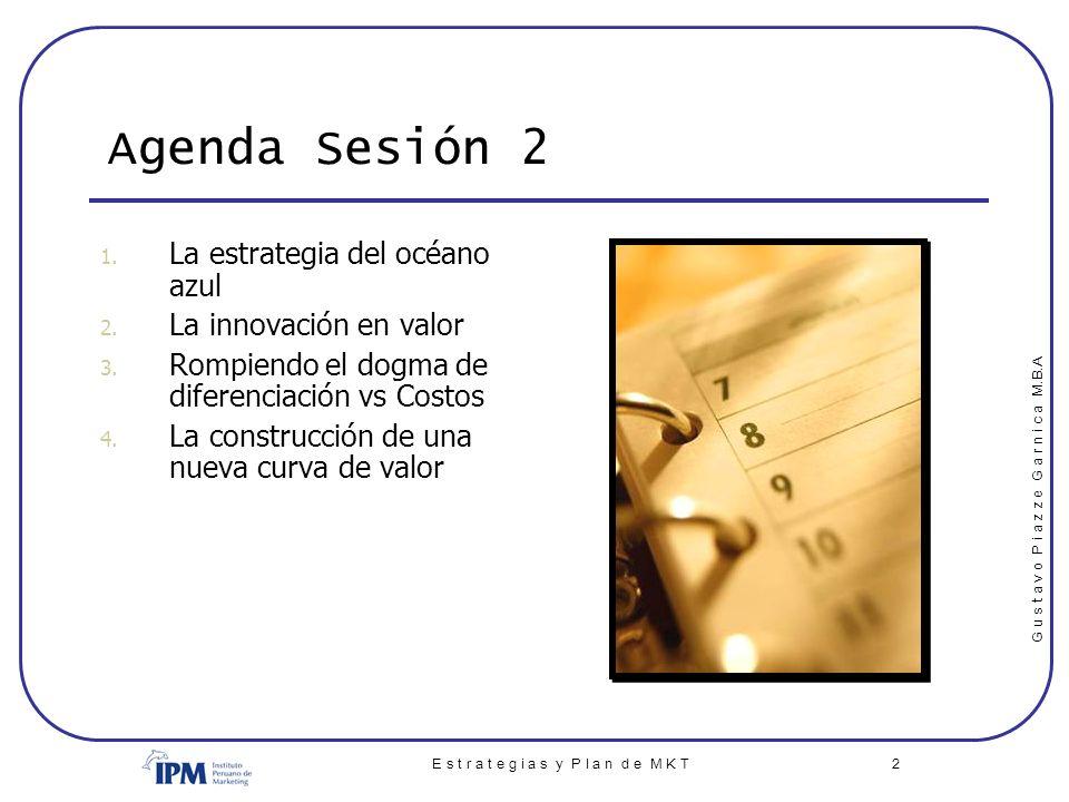 G u s t a v o P i a z z e G a r n i c a M.B.A E s t r a t e g i a s y P l a n d e M K T 23 III.9.- Mercado Tamaño de mercado Segmentación IMPORTANTE: NO se refiere al segmento al cual nos dirigimos (o queremos dirigirnos) ; se refiere a TODOS los segmentos que componen el mercado Descripción y análisis de segmentos Para cada uno de los segmentos enunciados se debe definir la necesidad y perfil del cliente de cada segmento