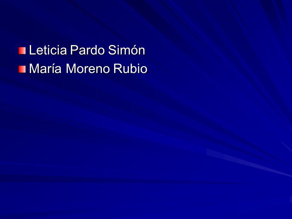 Leticia Pardo Simón María Moreno Rubio