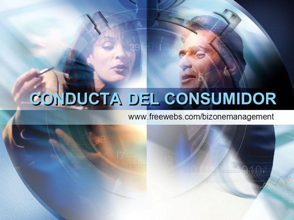 CONDUCTA DEL CONSUMIDOR www.freewebs.com/bizonemanagement