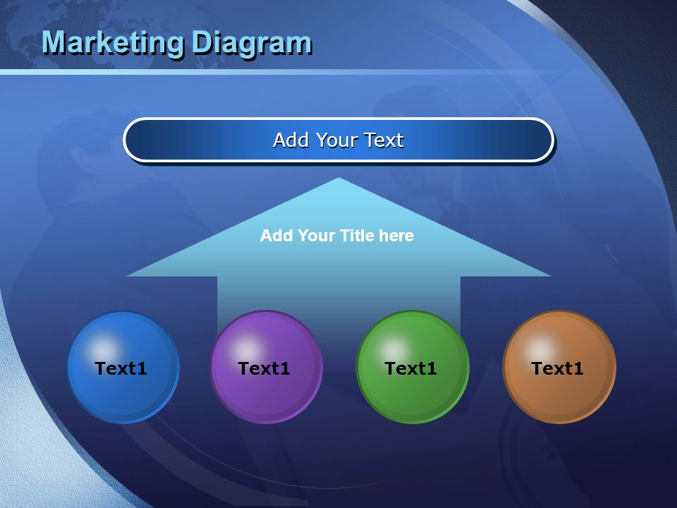 Marketing Diagram Add Your Text Add Your Title here Text1