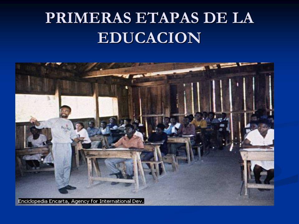 PRIMERAS ETAPAS DE LA EDUCACION