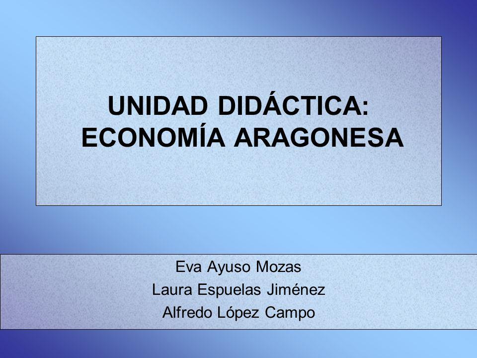 UNIDAD DIDÁCTICA: ECONOMÍA ARAGONESA Eva Ayuso Mozas Laura Espuelas Jiménez Alfredo López Campo
