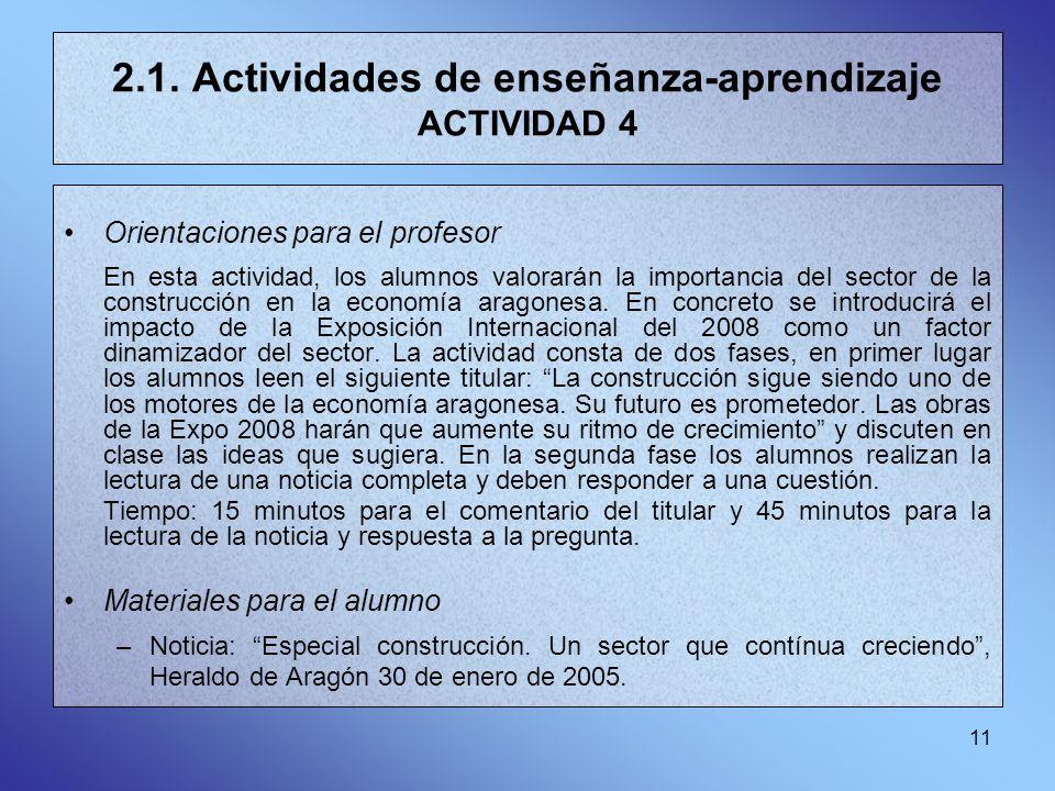 11 2.1. Actividades de enseñanza-aprendizaje ACTIVIDAD 4 Orientaciones para el profesor En esta actividad, los alumnos valorarán la importancia del se