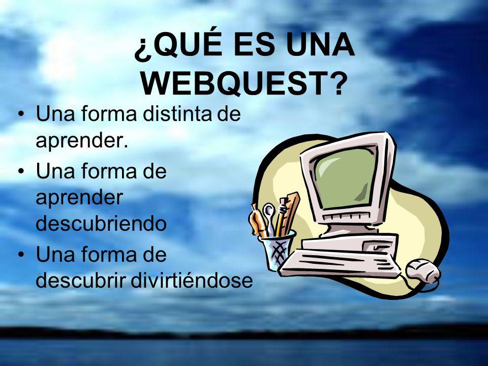¿QUÉ ES UNA WEBQUEST.Una forma distinta de aprender.