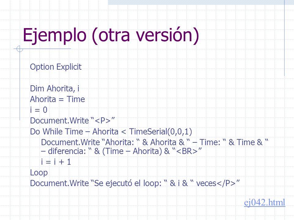 Primera aproximación Tabla de 20x12, con celdas numeradas del 1 al 240, pintando de rojo las que son múltiplos de 5 Document.Write Dim i,j,k k = 1 For i = 1 To 20 Document.Write For j = 1 To 12 Document.Write & k & k = k + 1 Next Document.Write Next Document.Write ej046.html