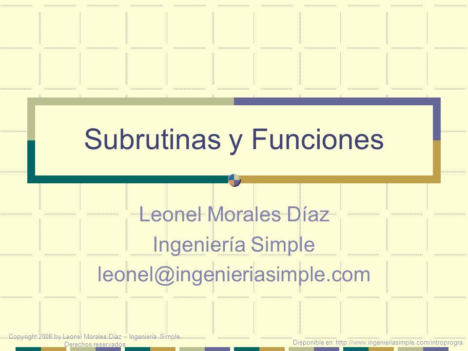 Comparación Sub CambiaBase(UnNumero,LaBase) Dim Resu,Resi,Salida Resu = UnNumero\LaBase Resi = UnNumero Mod LaBase Salida = & Resi Do While Resu >= LaBase Resi = Resu Resu = Resu\LaBase Resi = Resi Mod LaBase Salida = Resi & Salida Loop Salida = Resu & Salida Document.Write Salida: & Salida & End Sub Function CambiaBase(UnNumero,LaBase) Dim Resu,Resi,Salida Resu = UnNumero\LaBase Resi = UnNumero Mod LaBase Salida = & Resi Do While Resu >= LaBase Resi = Resu Resu = Resu\LaBase Resi = Resi Mod LaBase Salida = Resi & Salida Loop Salida = Resu & Salida CambiaBase = Salida End Function