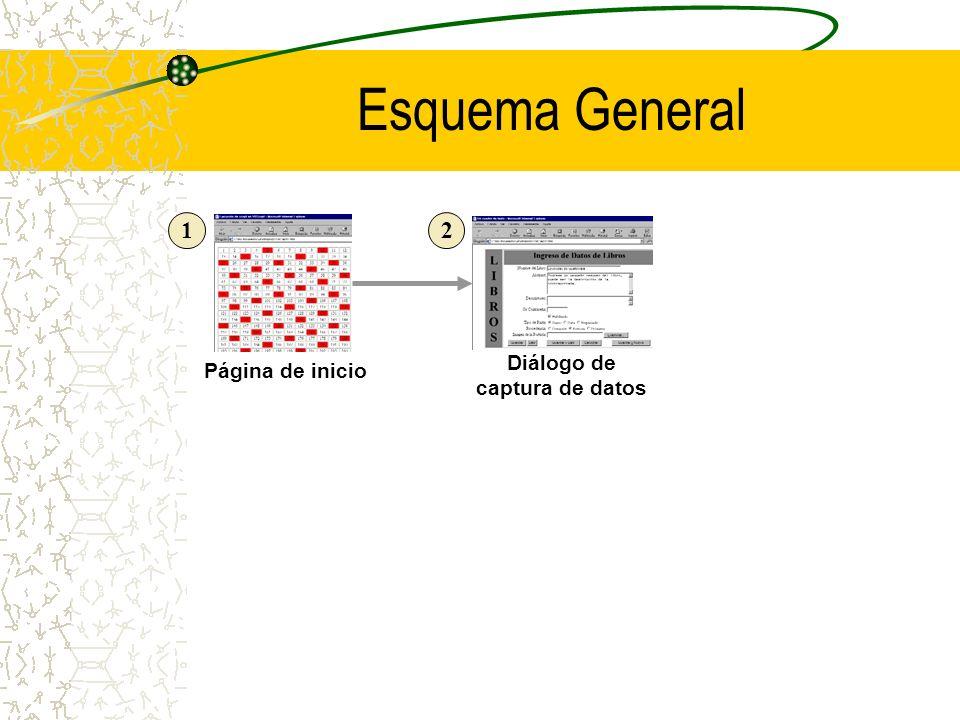 Esquema General Página de inicio Diálogo de captura de datos 12