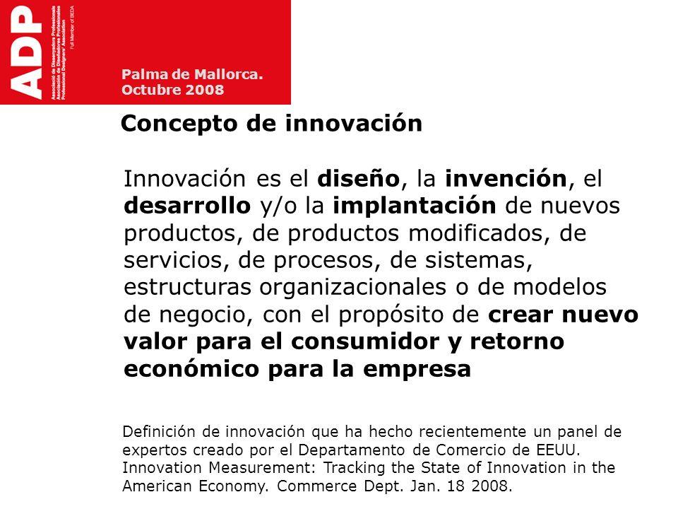 Palma de Mallorca.Octubre 2008 Tipos básicos de innovación Manual de Oslo (2005) D.