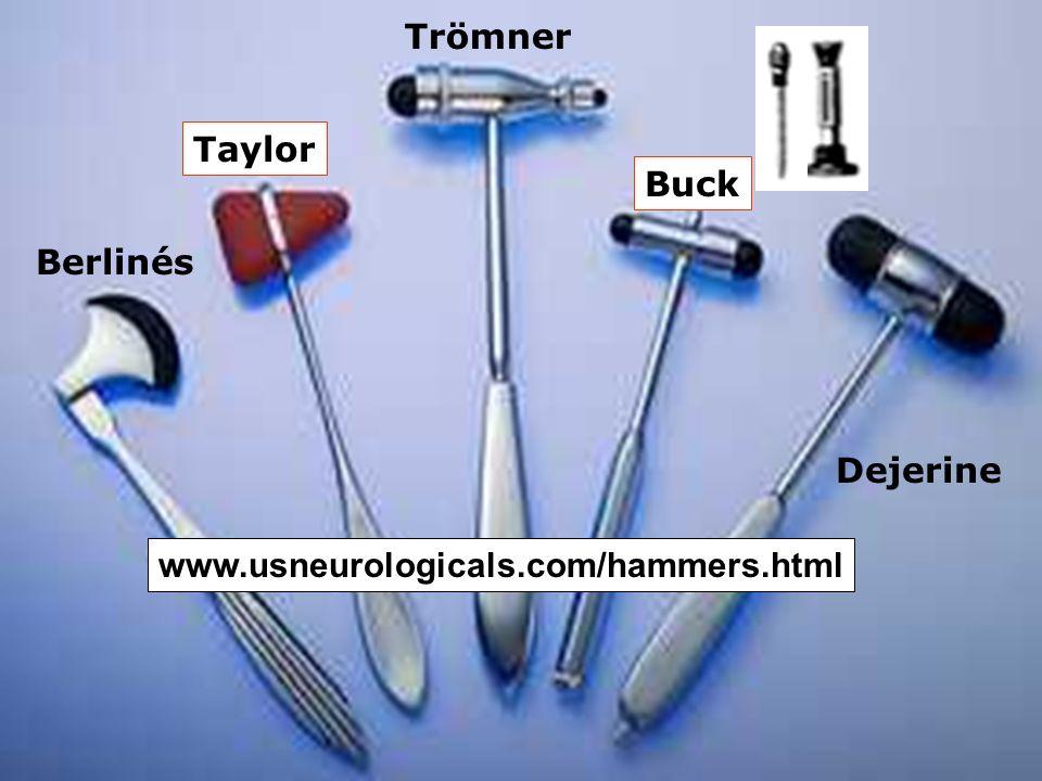 Trömner Buck Taylor Dejerine Berlinés www.usneurologicals.com/hammers.html