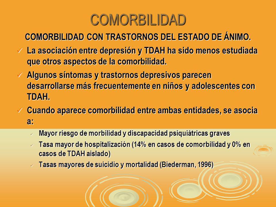 COMORBILIDAD COMORBILIDAD CON TRASTORNOS DEL ESTADO DE ÁNIMO.