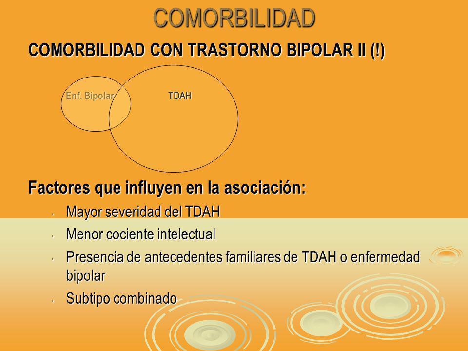 COMORBILIDAD COMORBILIDAD CON TRASTORNO BIPOLAR II (!) Enf.