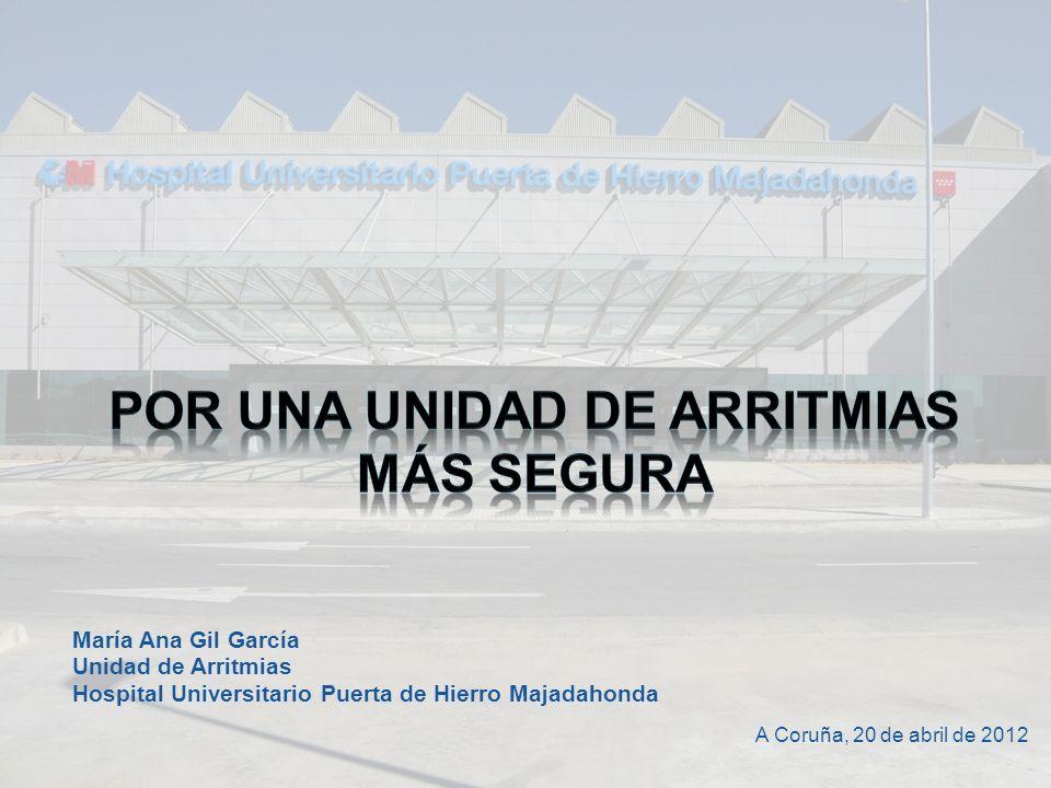 María Ana Gil García Unidad de Arritmias Hospital Universitario Puerta de Hierro Majadahonda A Coruña, 20 de abril de 2012