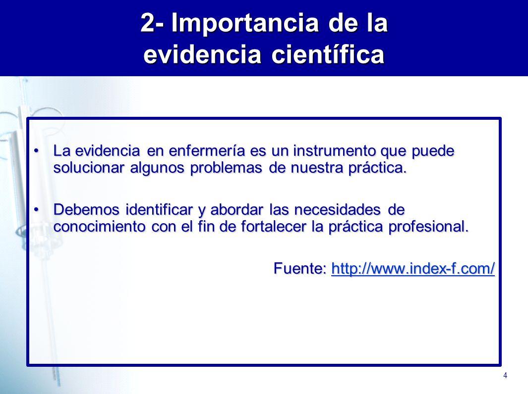 5 Bases conceptuales Medicina basada en la Evidencia (MBE) (MBE) Enfermería Basada en Evidencia (EBE) La EBE nace de la MBE e implica grandes esfuerzos para construir un modelo coherente de Ciencia de los Cuidados.