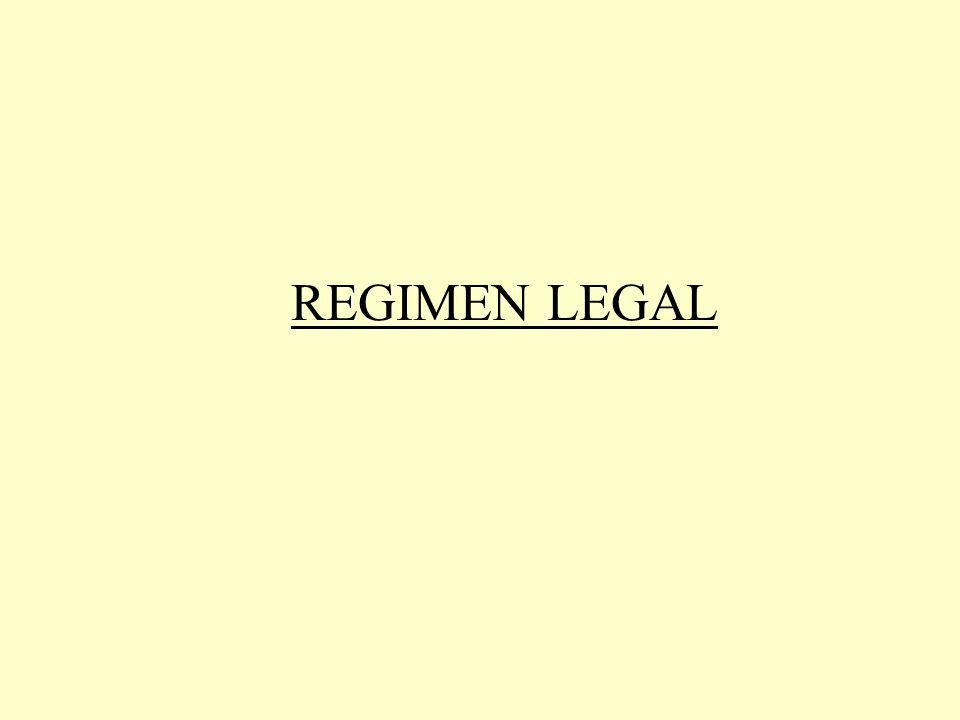 Principal Legislación 1- Decreto nº 939/04 Art. 5 2- Decreto nº597/99 Art. 1