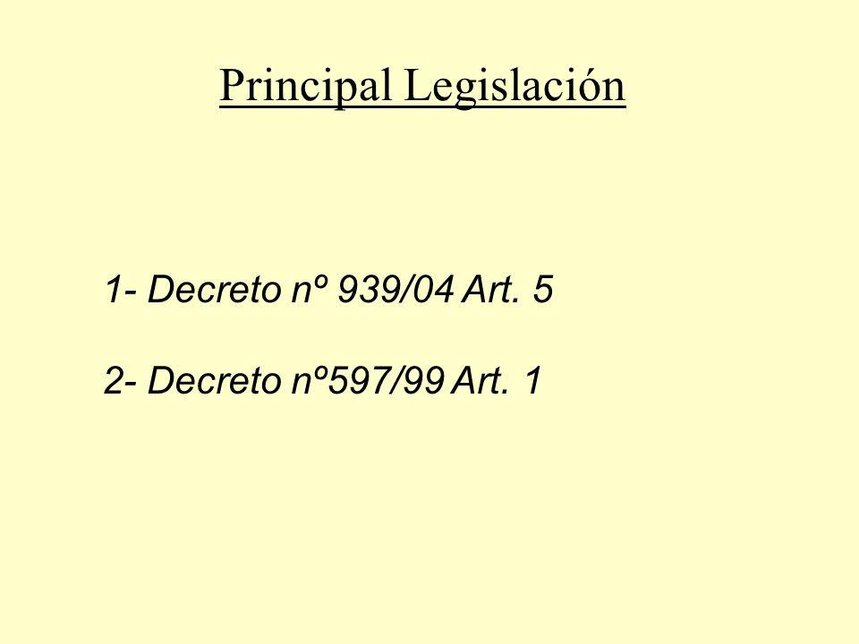 Decreto Nº939/2004 Art.5 NO PODRÁN NACIONALIZARSE PRODUCTOS AUTOMOTORES USADOS EN EL TERRITORIO NACIONAL, SALVO LAS EXCEPCIONES PREVISTAS EN EL ART.1 DEL DECRETO Nº 597/99, SUS MODIFICATORIOSYCOMPLEMENTARIOS.