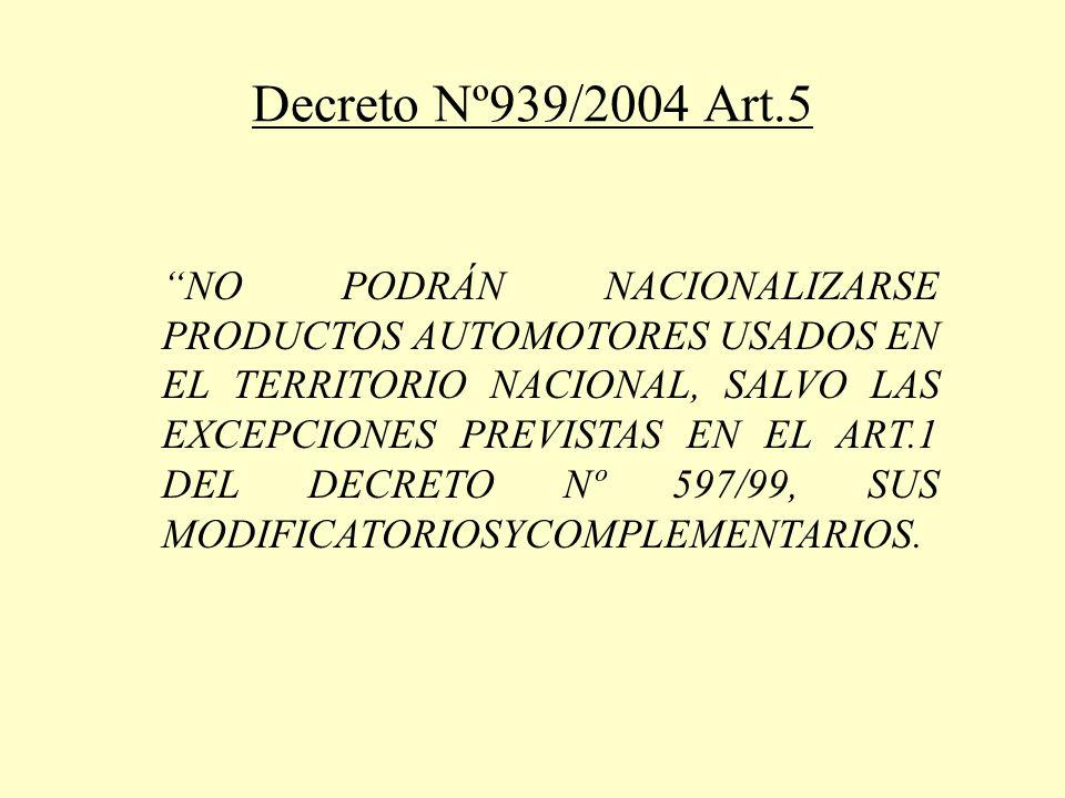 Decreto 597/99 Art.1 SUSTITÚYESE EL TEXTO DEL ART.
