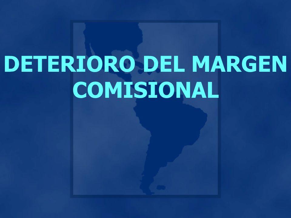 DETERIORO DEL MARGEN COMISIONAL