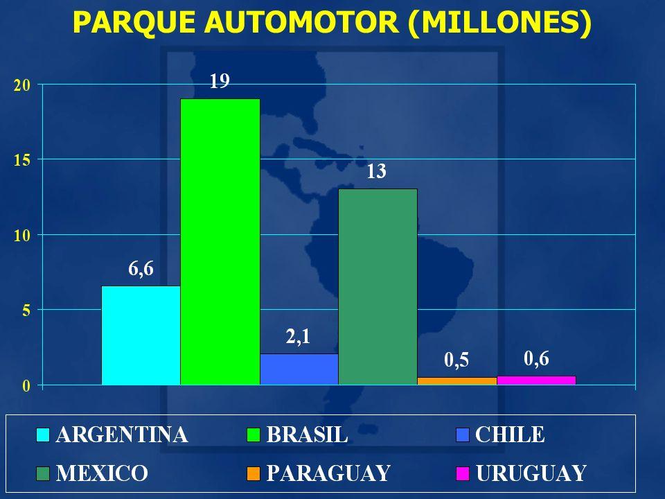 PARQUE AUTOMOTOR (MILLONES)