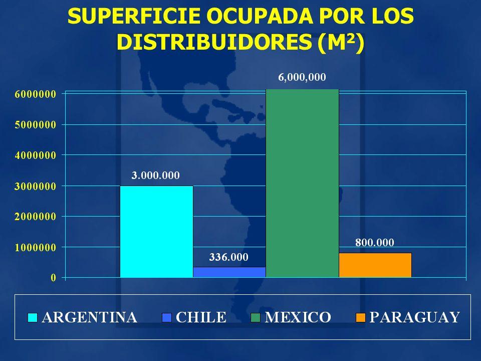SUPERFICIE OCUPADA POR LOS DISTRIBUIDORES (M 2 )