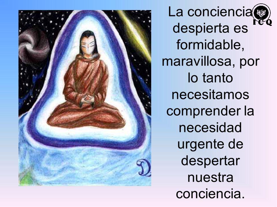 La conciencia despierta es formidable, maravillosa, por lo tanto necesitamos comprender la necesidad urgente de despertar nuestra conciencia.