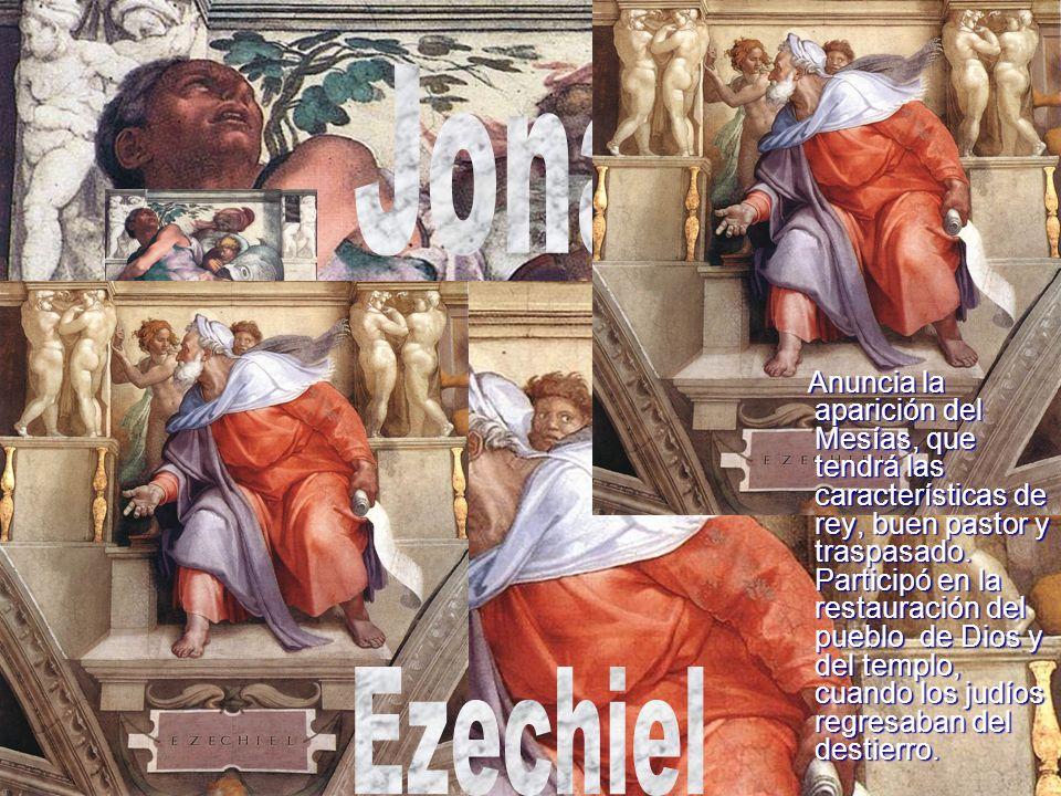 Anuncia la aparición del Mesías, que tendrá las características de rey, buen pastor y traspasado. Participó en la restauración del pueblo de Dios y de
