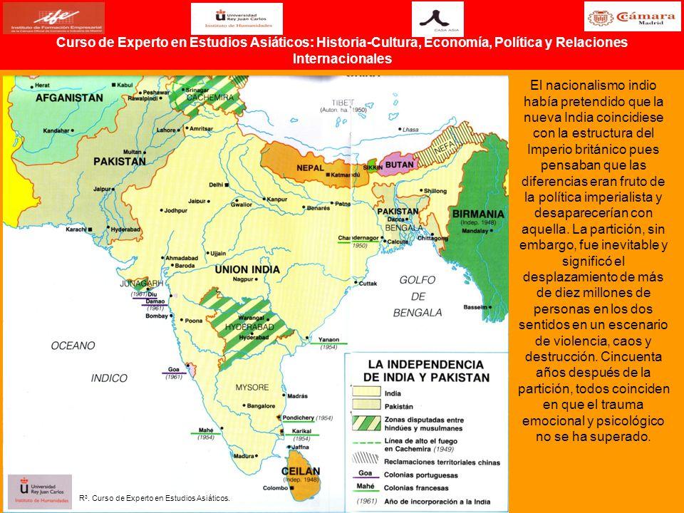 El nacionalismo indio había pretendido que la nueva India coincidiese con la estructura del Imperio británico pues pensaban que las diferencias eran f