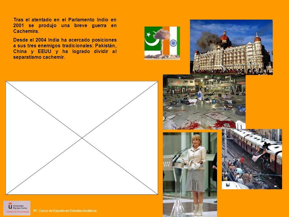 Tras el atentado en el Parlamento Indio en 2001 se produjo una breve guerra en Cachemira. Desde el 2004 India ha acercado posiciones a sus tres enemig