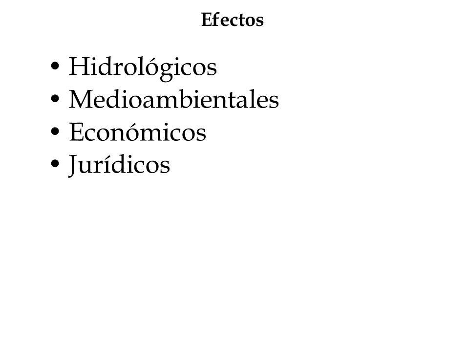 Efectos Hidrológicos Medioambientales Económicos Jurídicos