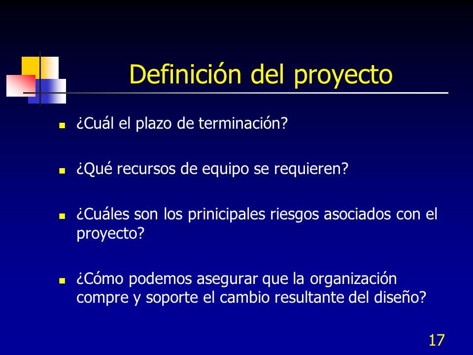 18 Herramientas para la Definición del proyecto Análisis de mercado Herramientas de pronóstico Análisis de valor del cliente Pronóstico tecnológico y visión Análisis competitivo Análisis de proceso Cartas de tendencia Diagrama de Pareto Cartas de administración de proceso