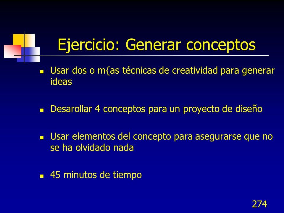 275 3.2 Priorizar funciones 3.2 Priorizar funciones 3.3 Generar conceptos 3.3 Generar conceptos 3.4 Evaluar y seleccio- nar conceptos 3.4 Evaluar y seleccio- nar conceptos 3.1 Identificar funciones clave 3.1 Identificar funciones clave 3.4 Evaluar y seleccionar conceptos 3.5 Revisión de conceptos 3.5 Revisión de conceptos