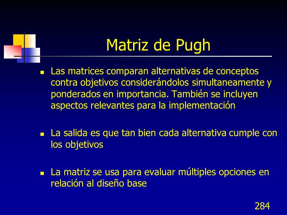 285 Matriz de Pugh Procedimiento 1.