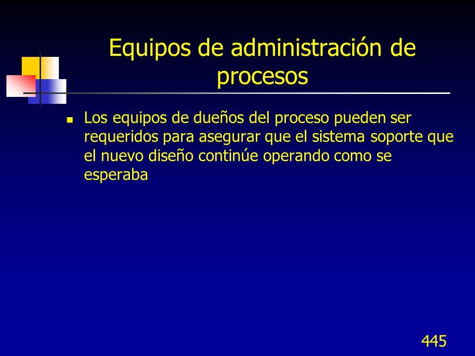 446 Documentación del proceso Documentación de procesos clave ¿Están los flujos en el nivel apropiado.