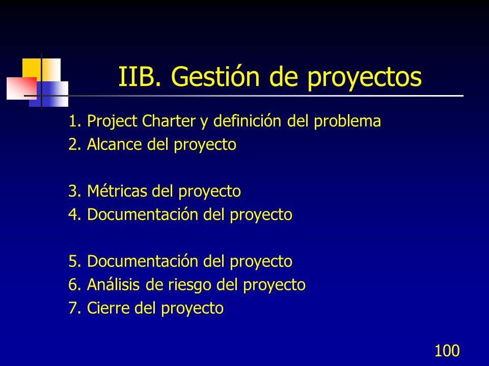 99 IIB. Gestión básica de proyectos