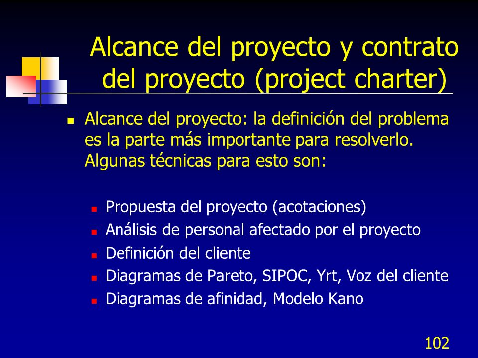 101 IIB.1 Contrato del proyecto (Project charter) y definición del problema