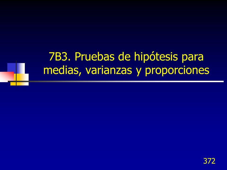 372 7B3. Pruebas de hipótesis para medias, varianzas y proporciones