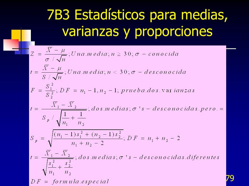 379 7B3 Estadísticos para medias, varianzas y proporciones