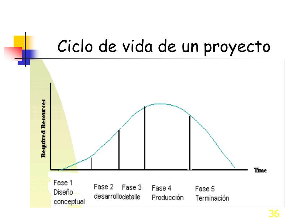 36 Ciclo de vida de un proyecto