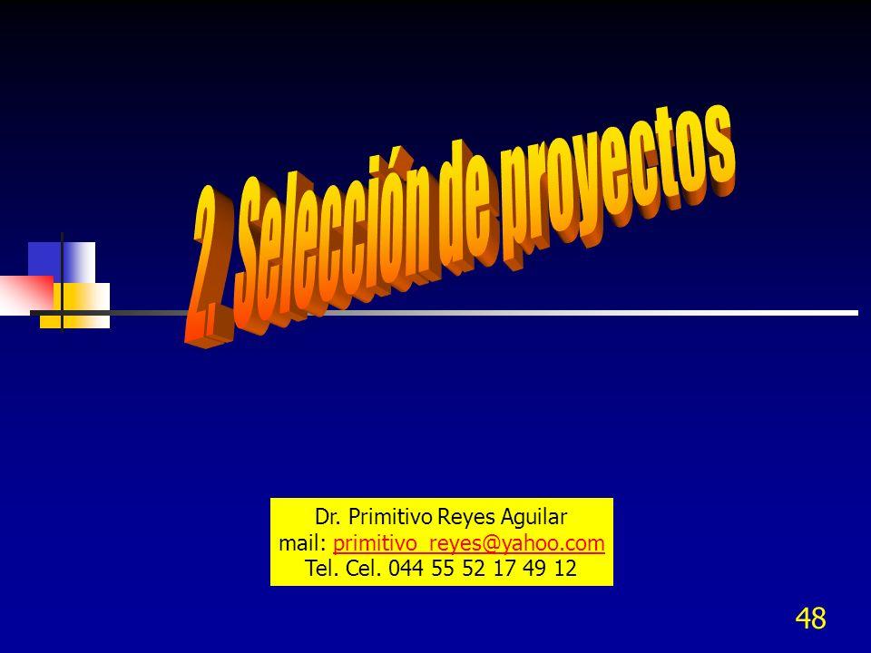 48 Dr. Primitivo Reyes Aguilar mail: primitivo_reyes@yahoo.comprimitivo_reyes@yahoo.com Tel. Cel. 044 55 52 17 49 12
