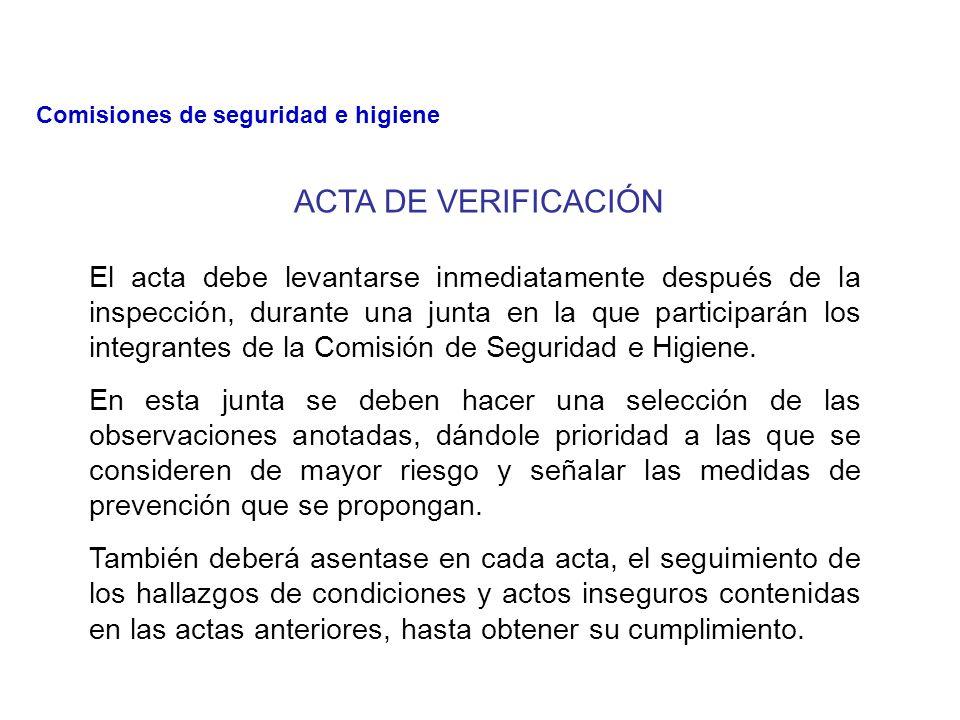 b. b. VERIFICACION DE OBSERVACION PARCIAL Se realiza cuando se conoce o se señala algunas áreas peligrosas, esto se realiza, para que la C.S.H. ponga