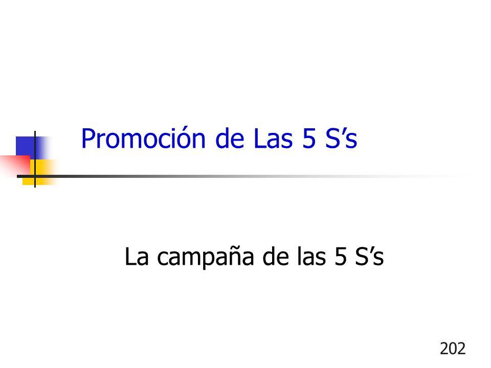 202 La campaña de las 5 Ss Promoción de Las 5 Ss