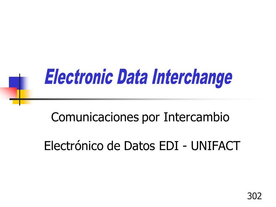 302 Comunicaciones por Intercambio Electrónico de Datos EDI - UNIFACT