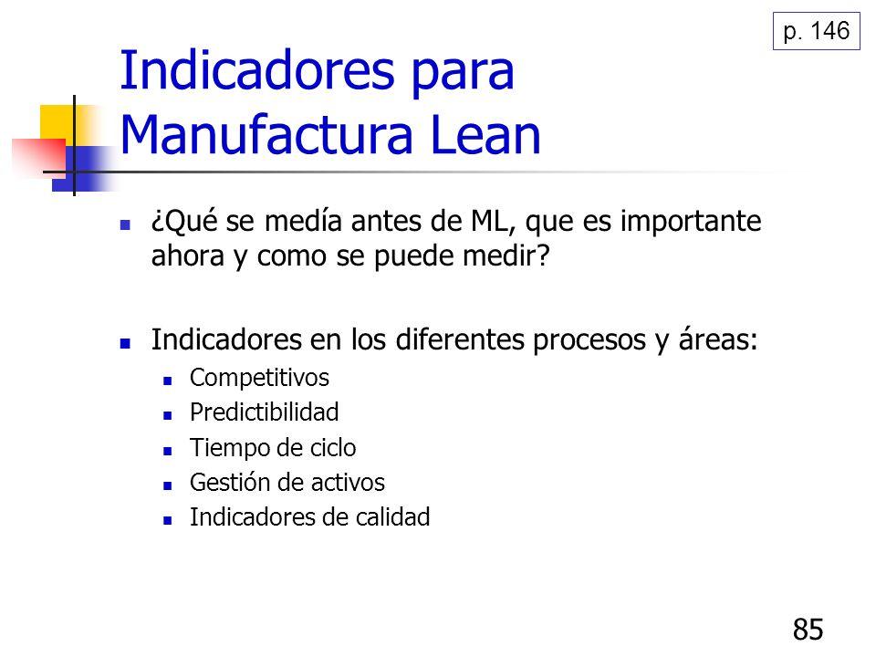 85 ¿Qué se medía antes de ML, que es importante ahora y como se puede medir? Indicadores en los diferentes procesos y áreas: Competitivos Predictibili